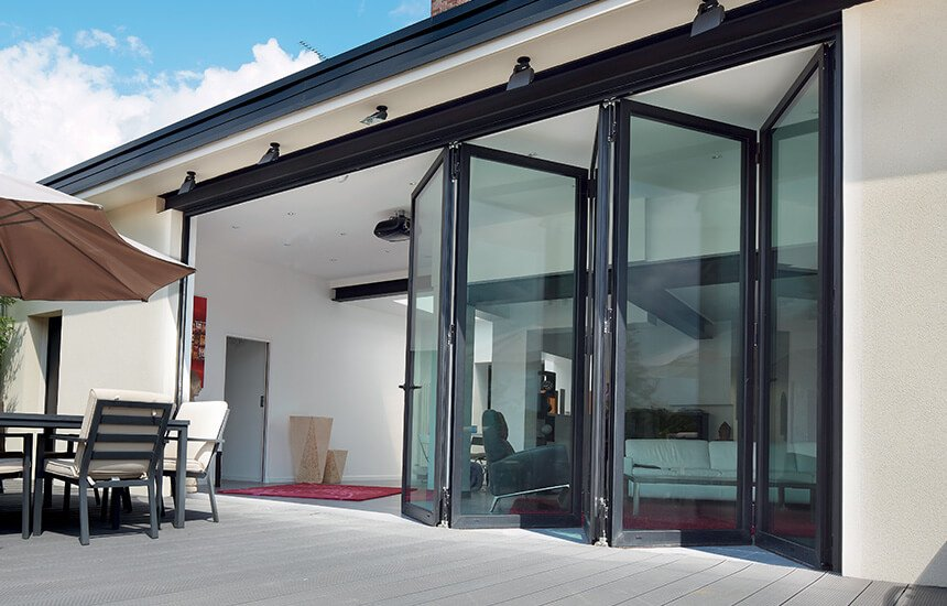 Black-aluminium-bifold-door